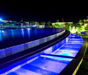 Beautiful beach club swimming pool in los cabos